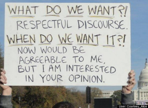 respectful discourse