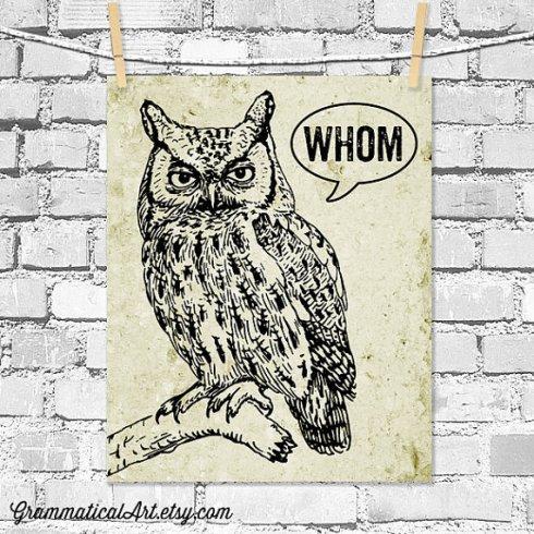 grammar owl etsy